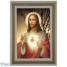 Quadro Religioso Sagrado Coração de Jesus - 90 x 60 cm - Mod. 4