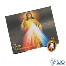 Imagem - 100 Cartões com Medalha de Jesus Misericordioso cód: 17110242