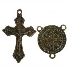 Imagem - KIT Com 1Un Cruz de Metal Jesus + 1Un Entreme cód: KC1CDMJ1ESB