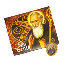 Imagem - Cartão com Medalha de São Bento - 10947814