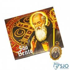 Imagem - 50 Cartões com Medalha de São Bento cód: 19116706
