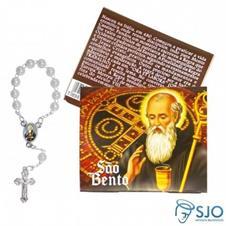 Imagem - 50 Cartões com Mini Terço de São Bento  cód: 16426001