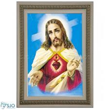Imagem - Quadro Religioso Sagrado Coração de Jesus - 70 x 50 cm - Mod. 3 cód: 19657806