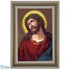 Quadro Religioso Face de Jesus - 70 x 50 cm - Mod. 3