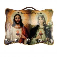 Imagem - Porta Chave - Jesus e Maria cód: 19922557