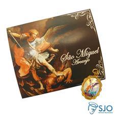 Imagem - Cartão com Medalha de São Miguel cód: 12173073