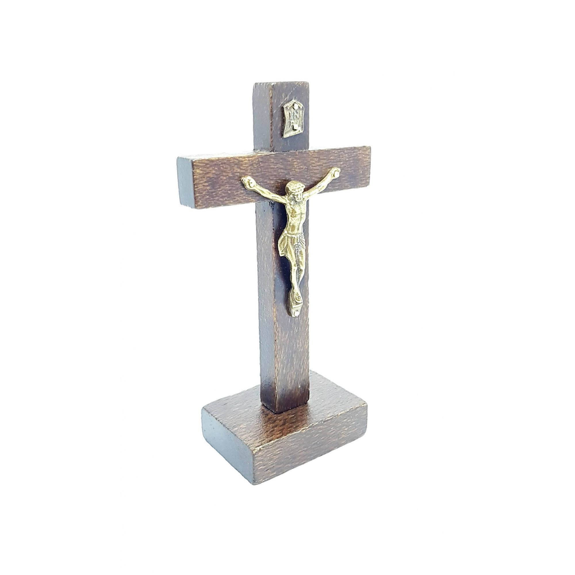 Imagem - Crucifixo Rústico de Mesa 12 cm  cód: 2707