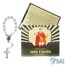 Imagem - Cartão com Mini Terço de Santo Expedito cód: 11493463