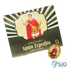 Cartão com Medalha de Santo Expedito