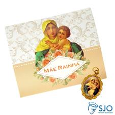 Cartão com Medalha da Mãe Rainha