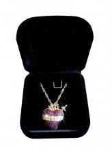 Imagem -  Colar Medalha Sagrado Coração de Maria - Semi jóia cód: SJ231