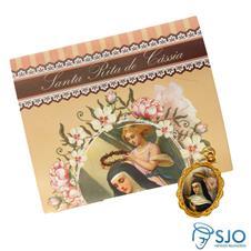 Imagem - 25 Cartões com Medalha de Santa Rita de Cássia cód: 15048939