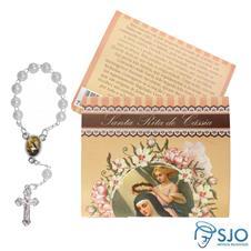 Imagem - 25 Cartões com Mini Terço Santa Rita de Cássia - 17528940