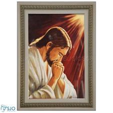 Imagem - Quadro Religioso Jesus Orante 90 x 60 cm cód: 19974765