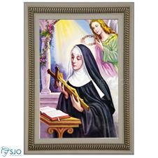 Quadro Religioso Santa Rita de Cássia - 70 x 50 cm