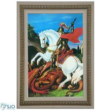 Quadro Religioso São Jorge - 70 x 50 cm