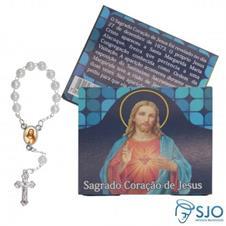 Imagem - 50 Cartões com Mini Terço do Sagrado Coração de Jesus cód: 17679590