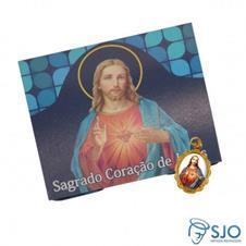 50 Cartões com Medalha do Sagrado Coração de Jesus