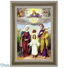 Imagem - Quadro Religioso Sagrada Família - 70 x 50 cm - Mod. 2 cód: 10512957