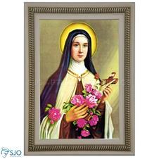 Imagem - Quadro Religioso Santa Terezinha - 70 x 50 cm - 11353706