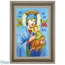 Imagem - Quadro Religioso Nossa Senhora Perpétuo Socorro - 70 x 50 cm cód: 18625964