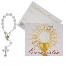 Imagem - Cartão com Mini Terço Eucaristia cód: 16074700