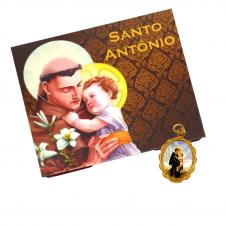 Imagem - Cartão com Medalha de Santo Antônio cód: 13200687