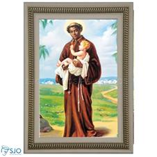 Imagem - Quadro Religioso de São Benedito - 70 x 50 cm cód: 12181804