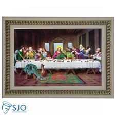 Quadro Religioso Santa Ceia Tradicional 60 x 60 cm