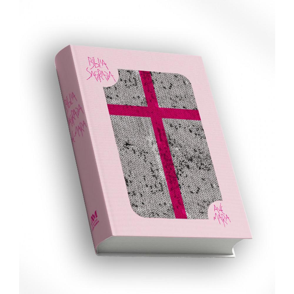 Imagem - Bíblia Sagrada com Lantejoula - Rosa cód: 789814