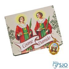 Imagem - Cartão com Medalha de São Cosme e Damião cód: 19306201