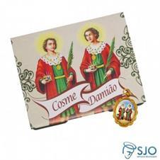 Imagem - 100 Cartões com Medalha de São Cosme e Damião cód: 10208900