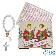 Imagem - Cartão com Mini Terço de Cosme e Damião cód: 19684040