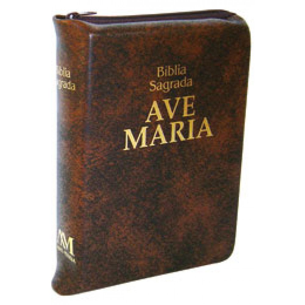 Imagem - Bíblia Zíper Média Marrom cód: 978852760