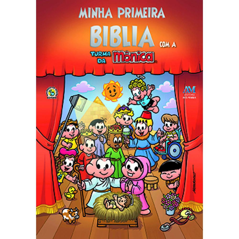 Imagem - Minha Primeira Bíblia com a Turma da Mônica - Tamanho Pequeno cód: 9788527612661_1