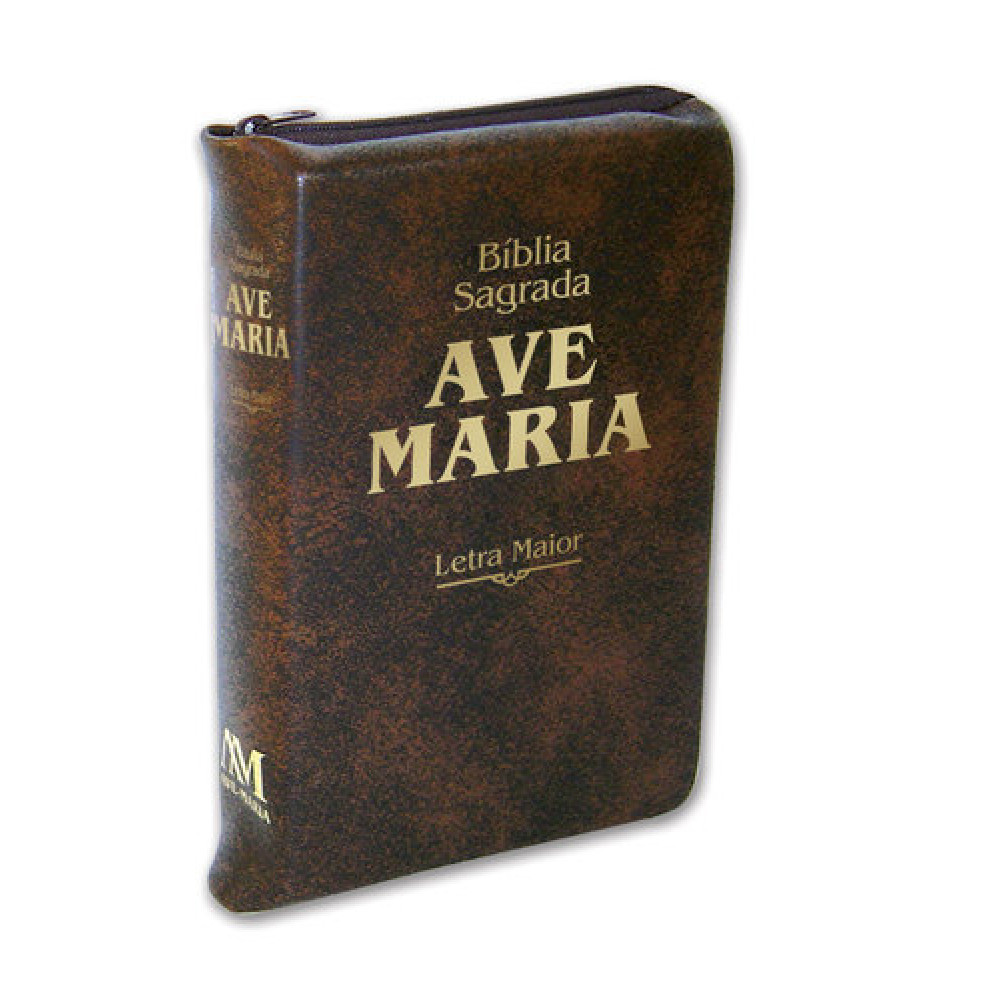 Imagem - Bíblia Letra Maior Zíper - Marrom cód: 979032