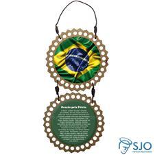 Imagem - Adorno de Porta Redondo - Bandeira do Brasil - 18113192