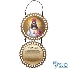Imagem - Adorno de Porta Redondo - Cristo Rei - 10035469