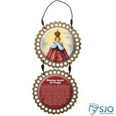 Imagem - Adorno de Porta Redondo - Menino Jesus de Praga cód: 11620531
