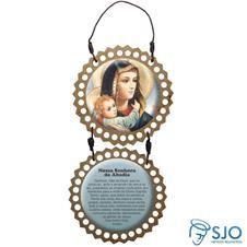 Imagem - Adorno de Porta Redondo - Nossa Senhora da Abadia cód: 14968248
