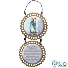 Imagem - Adorno de Porta Redondo - Nossa Senhora da Cabeça cód: 10249204