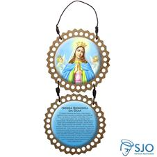 Imagem - Adorno de Porta Redondo - Nossa Senhora da Guia cód: 19435992