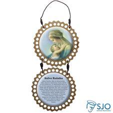Imagem - Adorno de Porta Redondo - Nossa Senhora do Abraço cód: 13358412