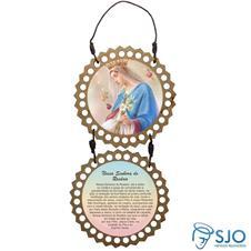 Imagem - Adorno de Porta Redondo - Nossa Senhora do Rosário cód: 12064179