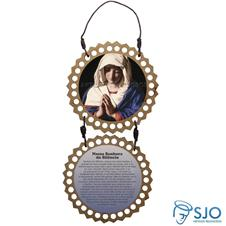 Imagem - Adorno de Porta Redondo - Nossa Senhora do Silêncio cód: 19007400