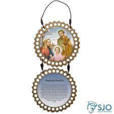 Imagem - Adorno de Porta Redondo - Sagrada Família - Mod 02 - 12580471