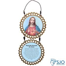 Imagem - Adorno de Porta Redondo - Sagrado Coração de Jesus - 11881386