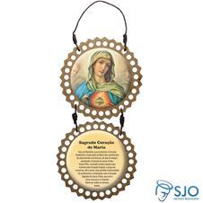 Imagem - Adorno de Porta Redondo - Sagrado Coração de Maria - 11665517