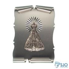 Pergaminho 10 x 7 Nossa Senhora Aparecida Prata