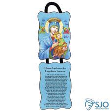 Imagem - Adorno de Porta Retangular - Nossa Senhora do Perpétuo Socorro cód: 15010825